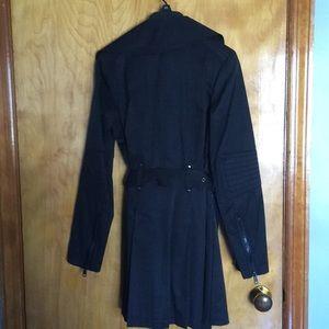 Black Rivet Jackets & Coats - Black Trench Coat